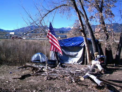 Homeless Vet Camp in Colorado
