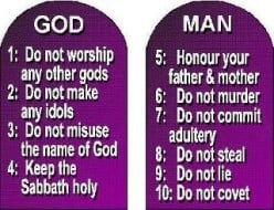 THE TEN COMMANDMENTS IN THE BIBLE