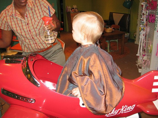 Try to find a hair salon that caters to special needs children