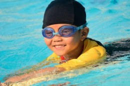 Protect skin from an early age with proper UPF and UV protective clothing without optical brighteners.