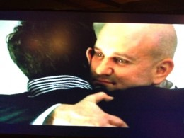Burt does not want to say goodbye to his son.