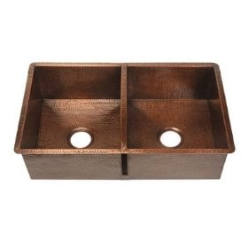 Oil rubbed bronze topmount sink will be a beautiful design element to almost any kitchen.