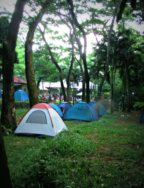 Camping Site at the Panguil Eco Park. Tents are available for rent.