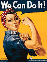 The famous poster used to attract women to the factories during World War ll