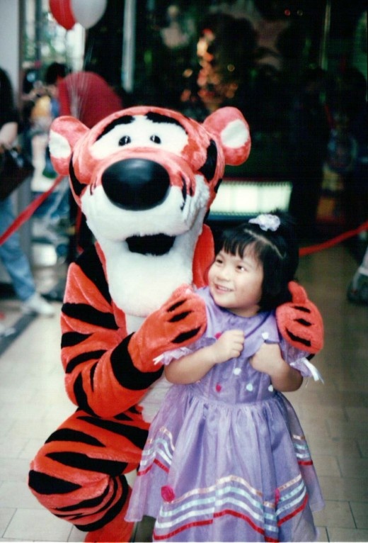 Fur Characters are often blamed for scaring some children and some adults. Here's a picture of me and Tigger at (Surprise!) Willowbrook Mall in Wayne, New Jersey, in the mid-90's.