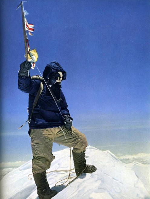 Photo of Tenzing Taken by Hilary on the peak of Everest.