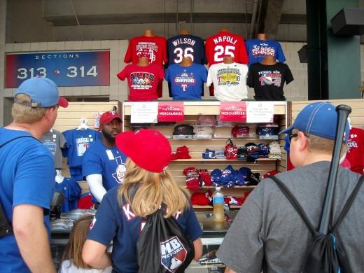 Rangers Merchandise Kiosk