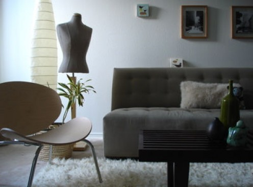 Monochromatic room in grays and neutrals -- classic!