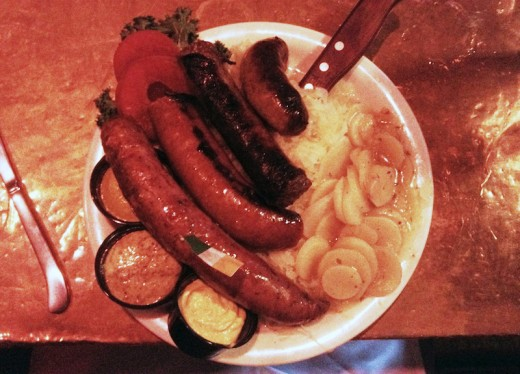 The Brewer's Sausage Plate -  McGuire's Irish Pub and Brewery -  Pensacola, FL
