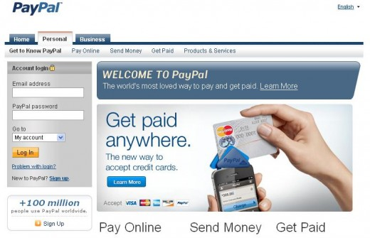 Log in to your PayPal account.