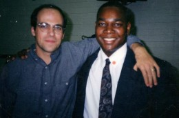 Me at the Missionary Training Center in Provo Utah with my missionary  Russ Sheridan on December 9, 1998 when I embarked to serve a mission.