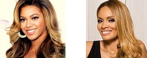 Celebrity Look Alikes Beyonce and Evelyn Lozada