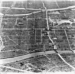 Ariel view of Hirsohima after the bomb