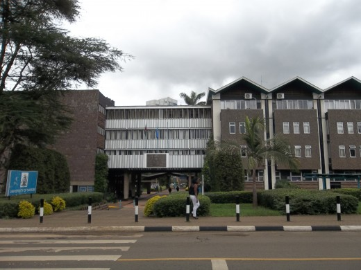 A frontal View of the entrance to the Main Campus, University of Nairobi