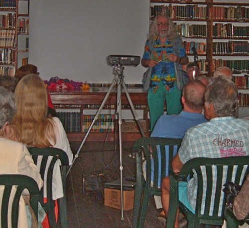 Showing some of the audience at the English Library.