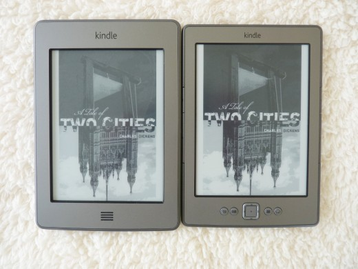 Covers from 'A Tale of Two Cities'. Touch is on the left.