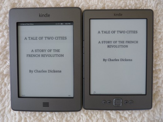 Title pages from 'A Tale of Two Cities'. Touch on the left.