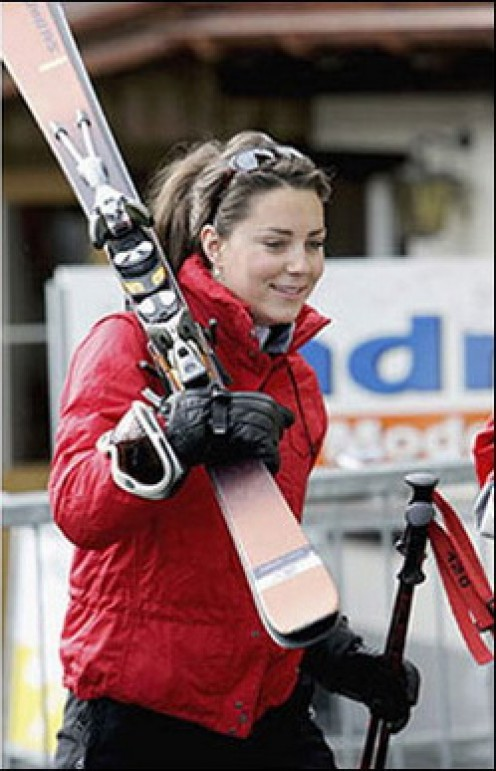 """HITTING THE SLOPES?"" NO PROBLEM FOR  AN ATHLETIC PRINCESS LIKE KATE."
