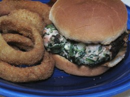 Spinach and Feta Turkey Burger, a quick healthy & flavorful alternative to the traditional greasy hamburger!