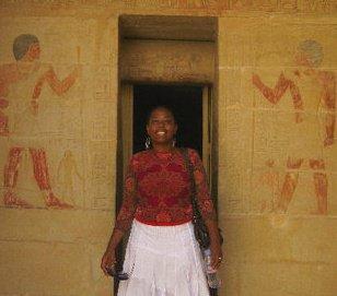In front of the tomb of Mereruka and Ankmahor at Saqqara.