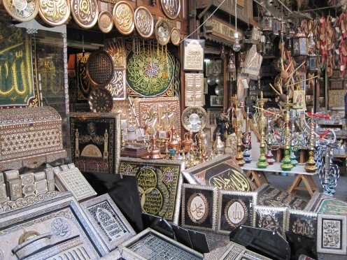 A shop at Khan el-Khalili.