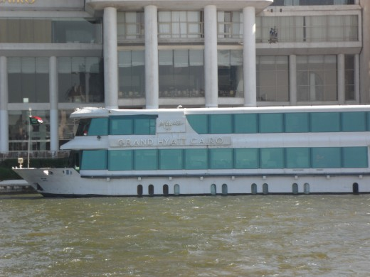 A Nile cruise might include a large ship such as this one I spotted while I was on a much smaller boat.