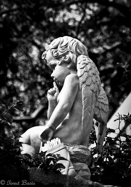 Lonely angel. Somehow this statue makes me feel sad.