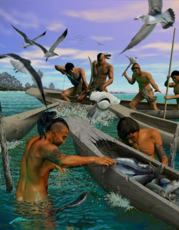 An Artist's Digital Representation of the Tocobaga Tribe