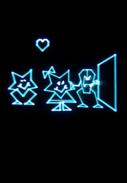 A shot of Vectrex graphics