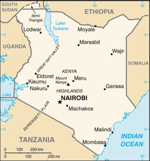 The Map of Kenya