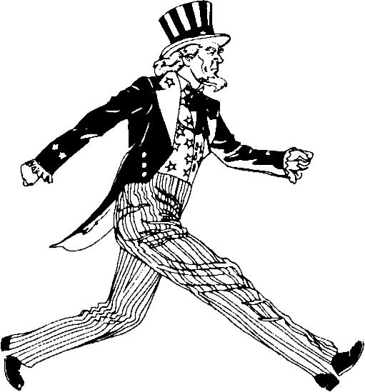 Uncle Sam Wilson, striding