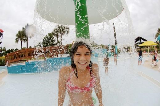 Summer waves outdoor water park