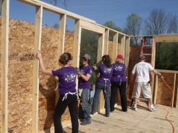 "Habitat for Humanity recently held a ""Women Build Week"" for women to build homes for other women, often single mothers."