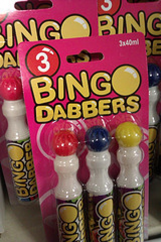 Markers used to mark spaces on Bingo cards