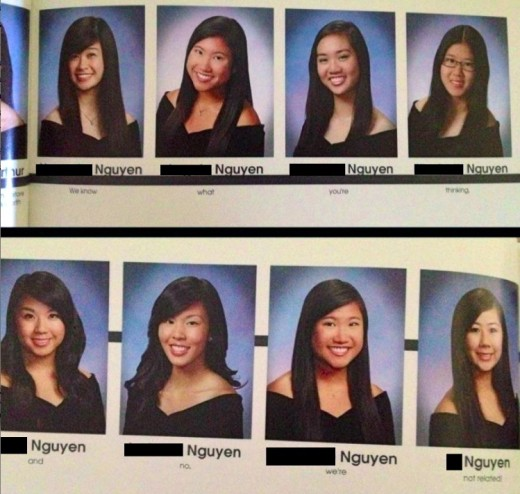 Nguyen Girls Yearbook Prank