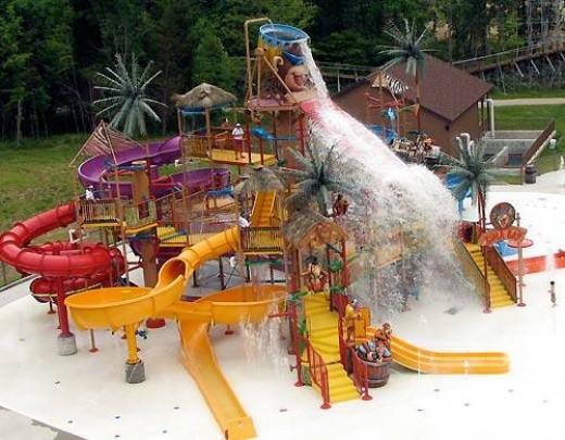 Splashin safari at holiday world theme park, IN