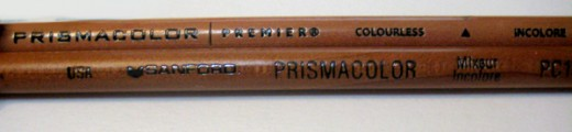 """the top pencil is """"Colourless"""" pencil, the bottom pencil is the Colorless Mixer"""