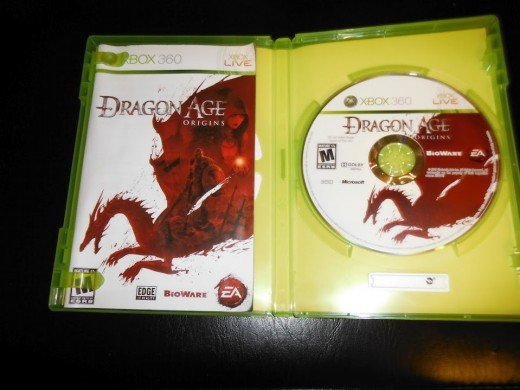 The inside cover of my copy of Dragon Age: Origins.