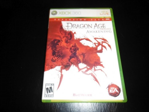 My copy of Dragon Age: Origins The Awakening and expansion to the game that is also available as DLC.