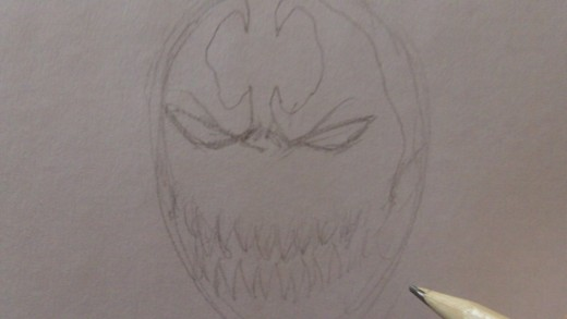 Draw some of the Spawn mask insignia.