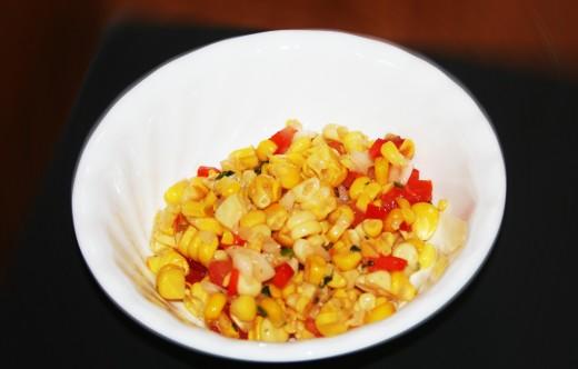 Fresh southwestern sweet corn salsa.