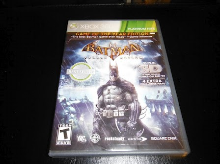 My copy of Batman: Arkham Asylum.