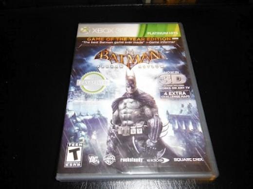 My copy of Batman: Arkham Asylum.