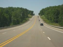 Beautiful highway drive