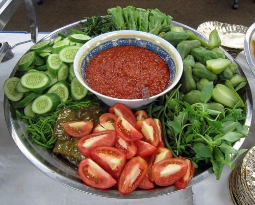 Lablab platter with Sambal sauce