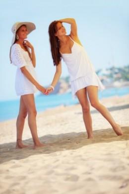 White a popular choice in beach wear.