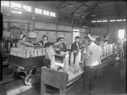 Women working in the shell-painting room at the Royal Naval Armament Depot