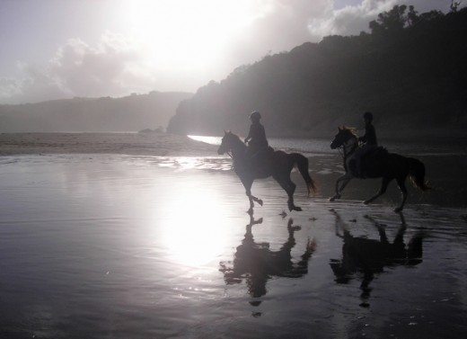 A sunset canter on Qolora beach