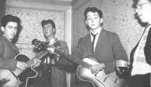 Pre-Beatles in 1958-Elvis was their idol!