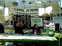 Transition Paso Robles booth entertained children with vegetable printing.
